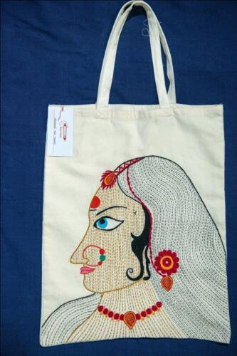 Hand embroidery cotton bag